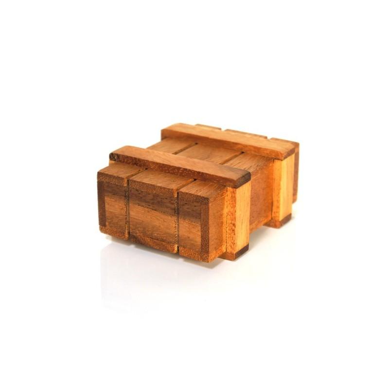 Casse t te la bo te secr te en bois naturel for Meuble avec cachette secrete